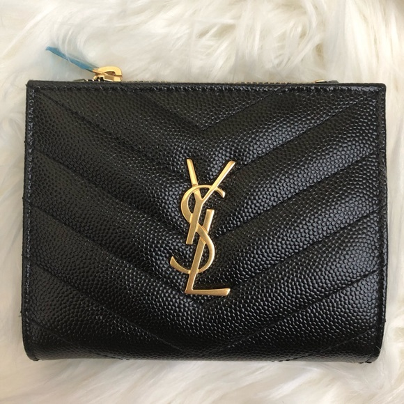 Saint Laurent Handbags - Saint Laurent monogram zipper card case wallet New